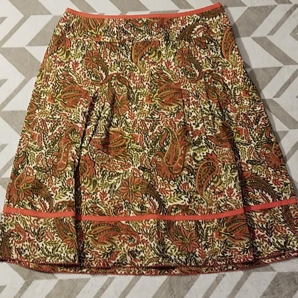 Ann Taylor Dresses & Skirts - Ann Taylor Paisley Pleated Lined Skirt Sz 6